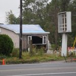Home with significant damage in North Carolina after the Hurricane